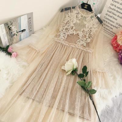 ★韓国ファッション 2018 春新作 ★大活躍♪レースワンピース 結婚式 ワンピース 二次会ブラック フォーマル パーティードレス 花柄 大人 披露宴