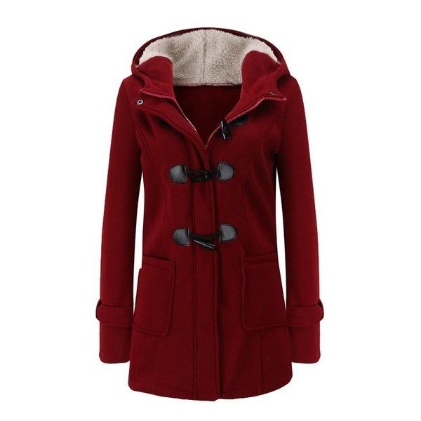 2017新しい秋冬のカジュアルウォーレン女性ファッションフード付きウォームコートダブルブレストコートウールコート