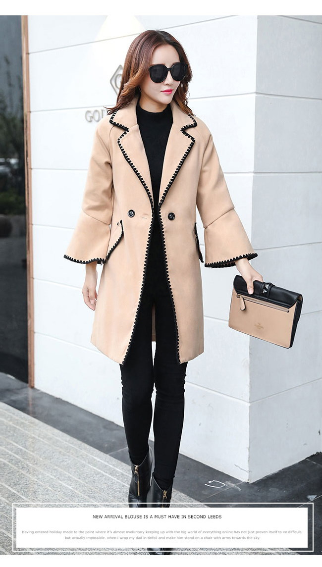 春秋レディースファション韓国ファショントレンチコートアウター 美しいラインカジュアルからシックまで 女性の装いで重要な「オシャレ感」と「きっちり感」この二つのポイントを兼ね備えてトレンドの先端を走る。