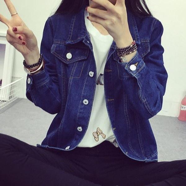 Veste de denim en mousseline de soie pour printemps de printemps pour femmes Vestes de jeans en vrac