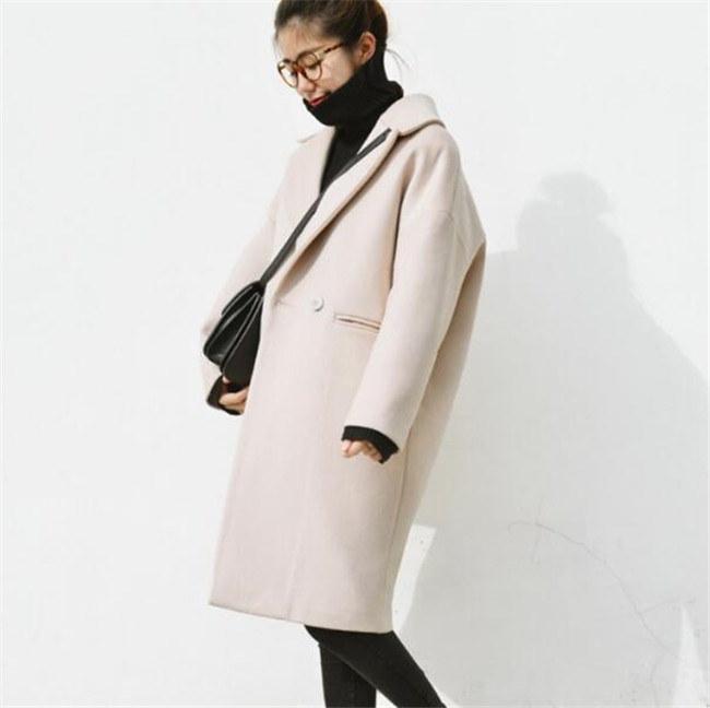 シンプル ロングコートアウター  ラシャコート レディース 無地   ゆったり 韓国ファッション  スタイリッシュな  デザイン ラシャコート 質の高いモードスタイル 3色  送料無料