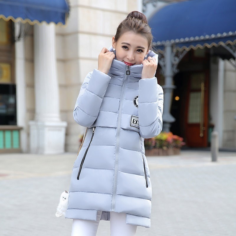2016新しい冬のジャケットの女性のアウタースリムフード付きダウンジャケット女性の毛皮の襟肥厚暖かいジャケットコート