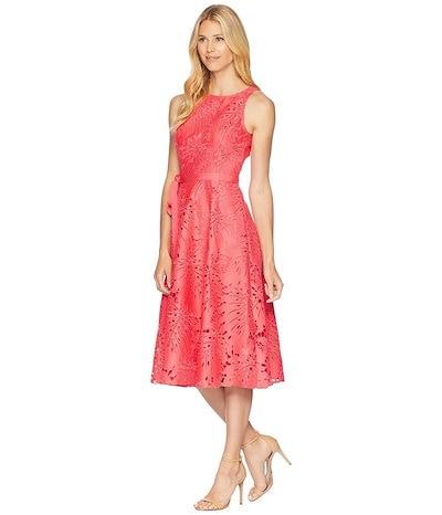 タハリ レディース ワンピース トップス Lace Midi Dress