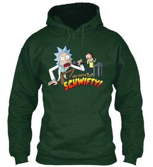 Rick And Morty Gildan Hoodie Sweatshirt
