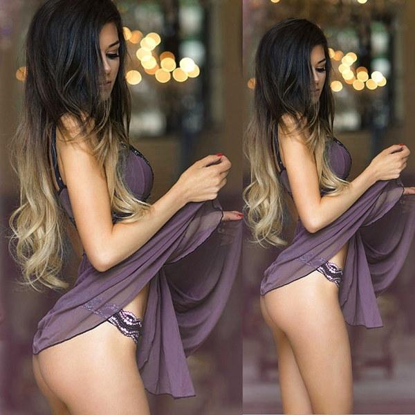 セクシーな女性Gストリング下着ランジェリーBabydollドレスナイトウェアスリーピングパジャマ
