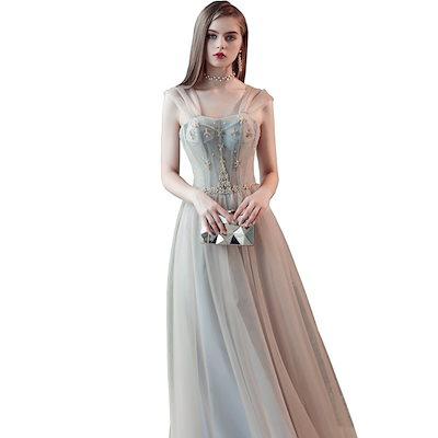 ドレス イブニングドレス 清楚 大人 華やか シック 透明感