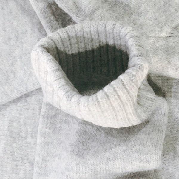 レディースイージーニットセータージャンパーヴィンテージOネックロングスリーブソフト&エラスティックルーズセーター