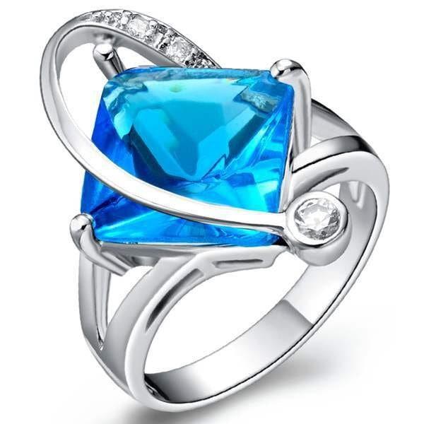 結婚式の花嫁パーティーのための豪華な18Kゴールドダイヤモンドリング、925スターリングシルバーリングリングとダイヤモンドリング