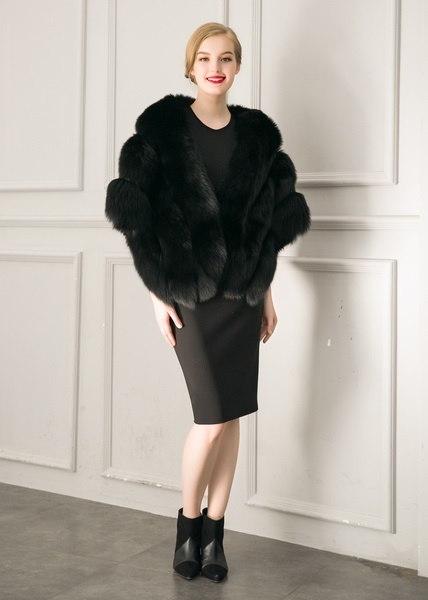 Rex Rabbit Fur Shawl Imitation Mink Fur Cape Jacket Coat