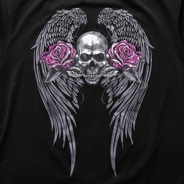 2017女性ファッションセクシーな女性のOネック半袖スカルプリントTシャツ