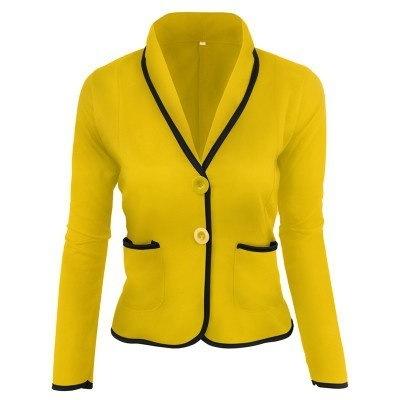 (XS-6XLヨーロッパサイズ)女性OLビジネスブレザースーツロングスリーブカジュアルトップスリムジャケットコートアウトレット