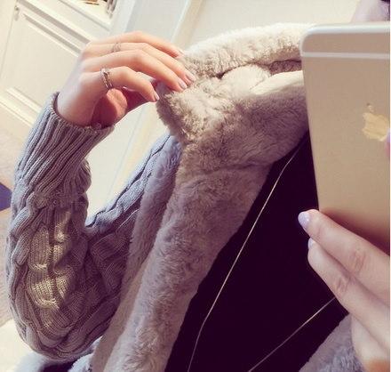 女性ガーディアンパーカールーズふわふわ編みステッチぬいぐるみパーカーフード付きジャケットウォームアウターCOA