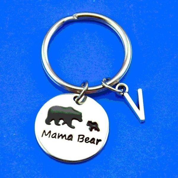 家族のキーリングママベアとベビーベアキーチェーンママのための素敵なジュエリーギフト、かわいい家族愛ママ
