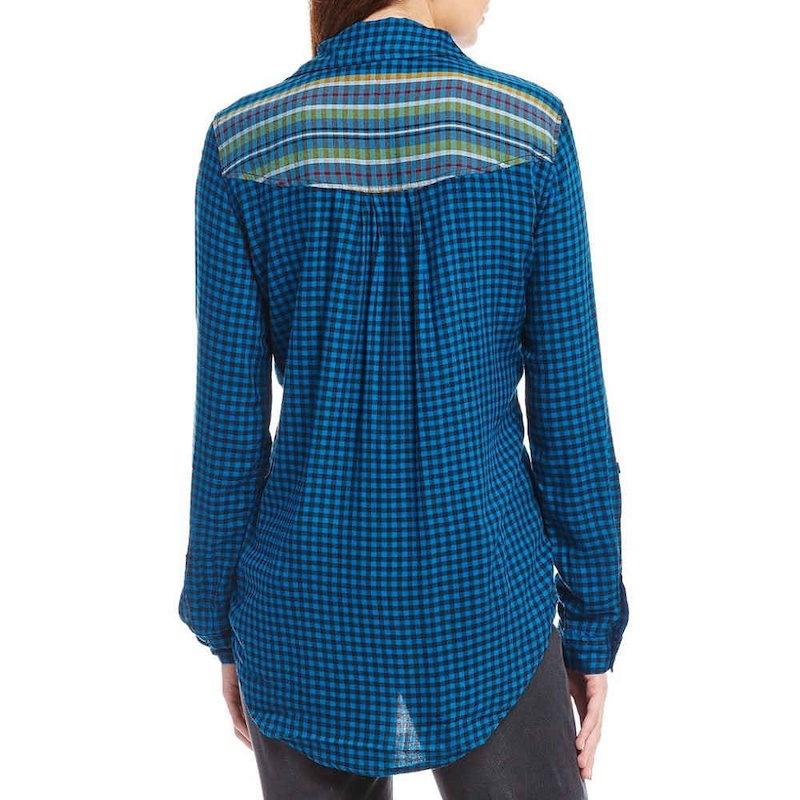 ウエストバウンド レディース トップス ブラウス・シャツ【Westbound Petites One Pocket Popover Shirt】Cool Stripe Check