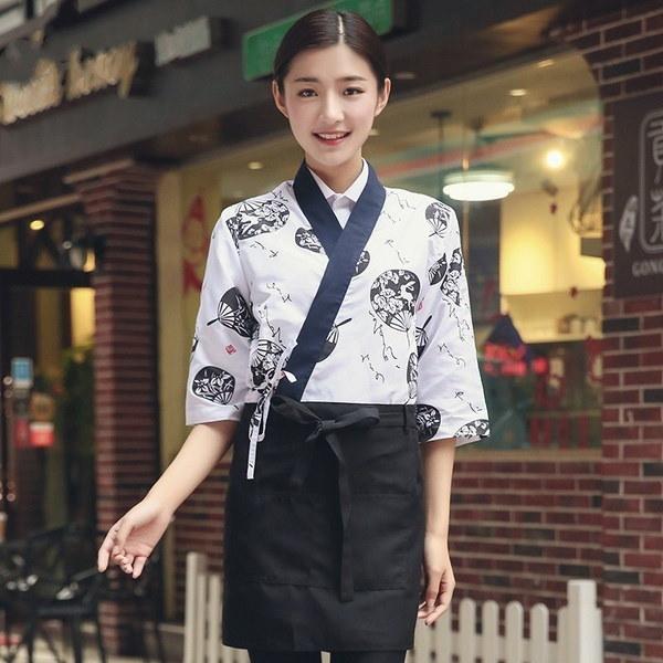 Food Service Sushi Chef Japanese Restaurant Uniforms Coffee Hotel Restaurant Waitress Waiter Hippy