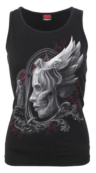 ノースリーブタンクトッププリントOネックトップコットンサマークールTシャツプラスサイズ