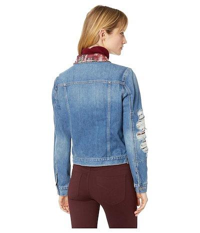 トゥーバイビンスカムート レディース コート アウター Tapestry Patchwork Classic Denim Jacket
