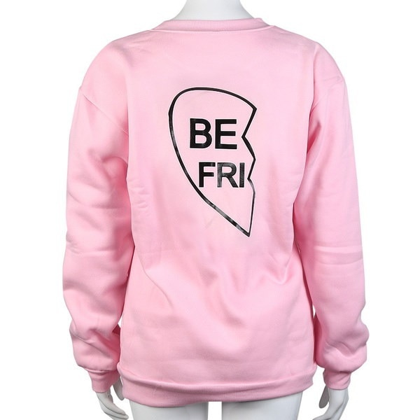 シスターズ新ファンタスティックレタープリントロングスリーブフード付きセータートップブラウスシスターシャツ