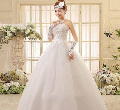 ビスチェ 花嫁礼服 ウェディングドレス ベアトップ 韓国系 プリンセス 刺繍 水晶 XCMS33