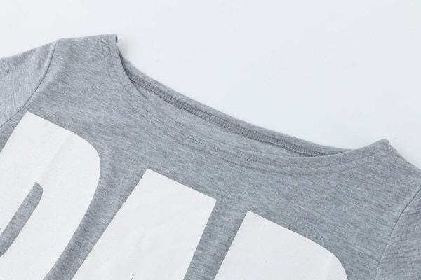ホットニューファッションセクシーな女性の夏最新カジュアルVネックオフショルダー半袖ストレッチTシャツトップ
