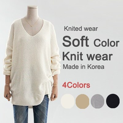 [something] V-neck Knit ★ Direct From korea/High Quality/Women Office Wear/Korea Style