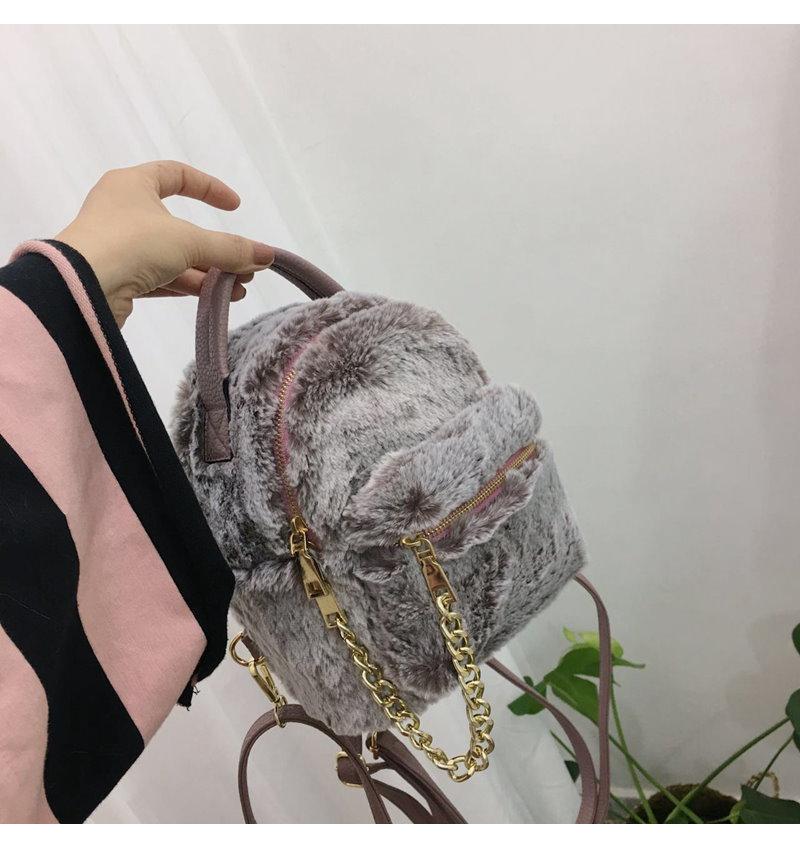 2017秋冬ミニ新型可愛い獭兔モモランドセル女の小さいキャンパストートチェーンバッグ