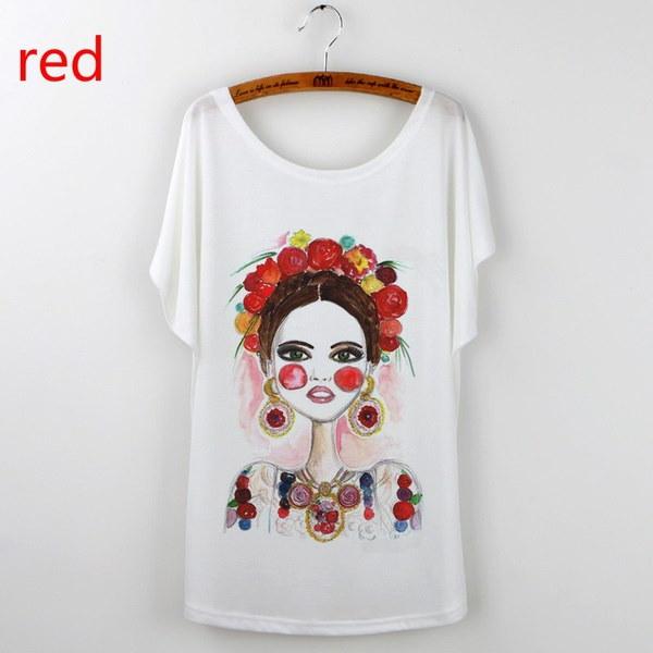 Frida KahloプリントTシャツWomen 2017カジュアルトップスTシャツプラスサイズOネックキャミセタムージャー半袖