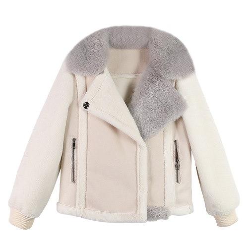 2018新入荷冬新作 ファーライダースジャケット 可愛いアウター修身気質 ジャケット 防寒ロングジャケットスエードコートマキシ丈ジャケット 暖かい ライダース スエード