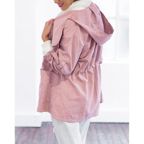 ホット女性暖かいファッションフード付きロングコートジャケットトレンウィンターパーカーアウトレット