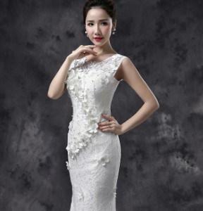 マーメイドドレス Aライン フォーマル ブライズメイドドレス パーティー 結婚式 二次会 卒業式 高級なウエディングドレス 着痩せ 編み上げ 刺繍半袖ドレス お呼ばれ ワンピース ワンピドレス