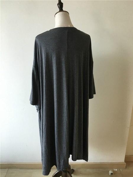 MIUCOO 2017大きいサイズのシャツドレス女性のプラスサイズの服の着用バットウィングシャツドレスフィット60KG〜200