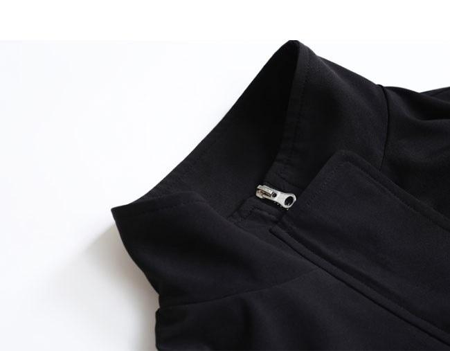 アウター ジャケット 上着  大きいサイズ レディース 可愛い 羽織 女性 オーバーサイズ 秋服 お洒落 ウインドブレーカー 無地 ブルゾン フルカラー ポケット スポーツ 黒 詰襟