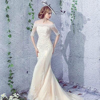 送料無料【XS?XL】ウェディングドレス マーメイドライン 二次会 マーメイドドレス オフショルダー ロング ドレス 花嫁 挙式 ドレス パーティード