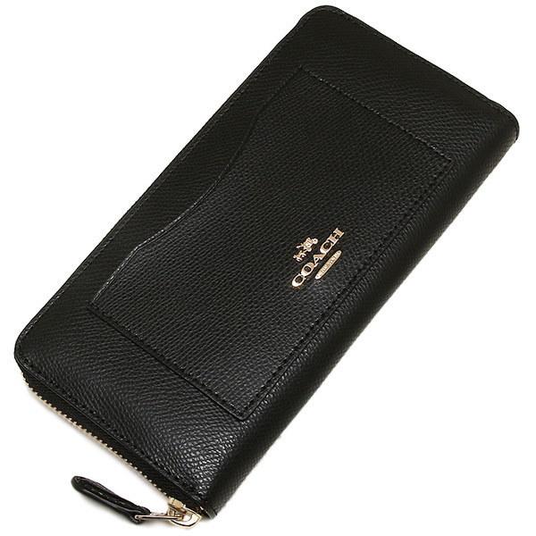 コーチ 財布 アウトレット COACH F54007 IMBLK クロスグレインレザー アコーディオン ジップ ウォレット 長財布 ブラック