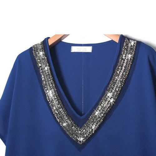 2016 体型カバーになる!韓国女性のファッション新作/Aラインワンピース/大きいサイズドレス/レディース ドレス 半袖/チュニック/送料無料/夏 ワンピース半袖ワンピース