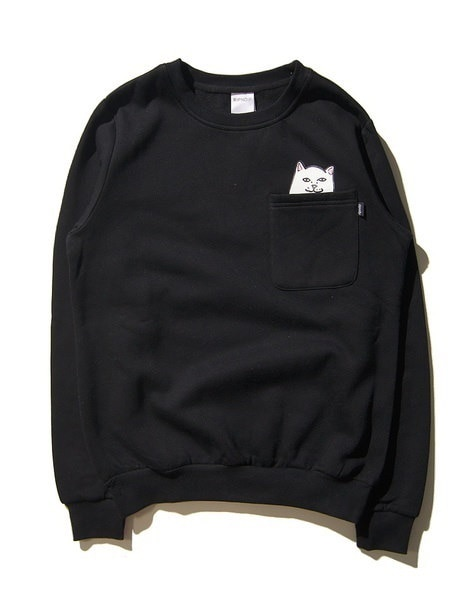 Brand Clothing Jacket Men s Fashion Long Sleeve Sweatshirt Ripndip Hoodie Middle Finger Cat Printed