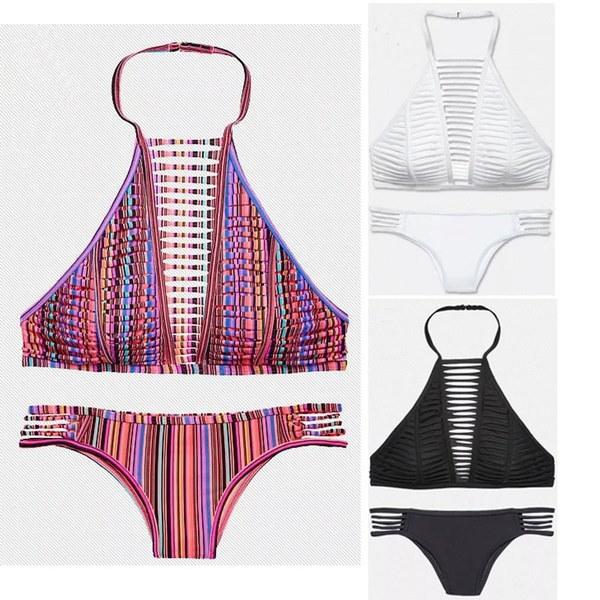 女性ファッション中空セクシーなビキニビーチ水着バンデージビキニセット水着水着