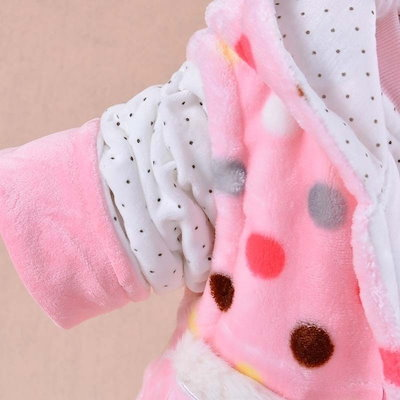 Baby Kids Set 2015 Winter Girl Flannel Thickening Keep Warm Suit Baby Cartoon (Three Piece Sets) Cartoon Little Princess Cotton-padded clothes
