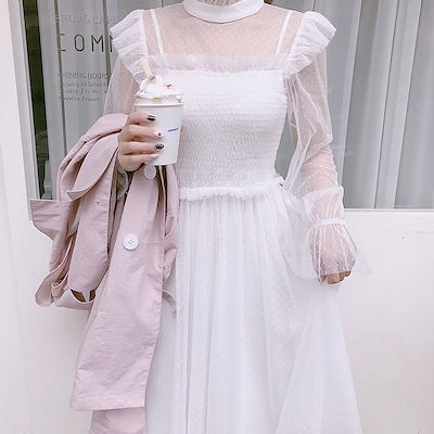 【送料無料】ドレス メッシュ フェアリー ロング 膝丈 ゆったり フリル 結婚式 お呼ばれ 二次会 パーティ ハイウエスト シンプル 大きいサイズ ドレス 5l BTBA1660
