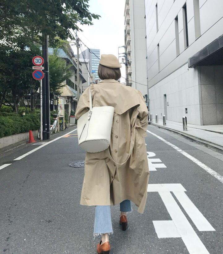 【安心QXPRESS発送】★トレンチコート OL通勤/コート ジャケット 長袖