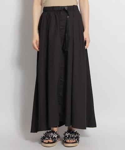 ギャザースカート★ロング丈 しわ加工 ふわふわ感