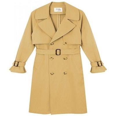 [秋のジャンパーck079]女性のトレンチコートジャンパージャケット風防フード秋575870138104