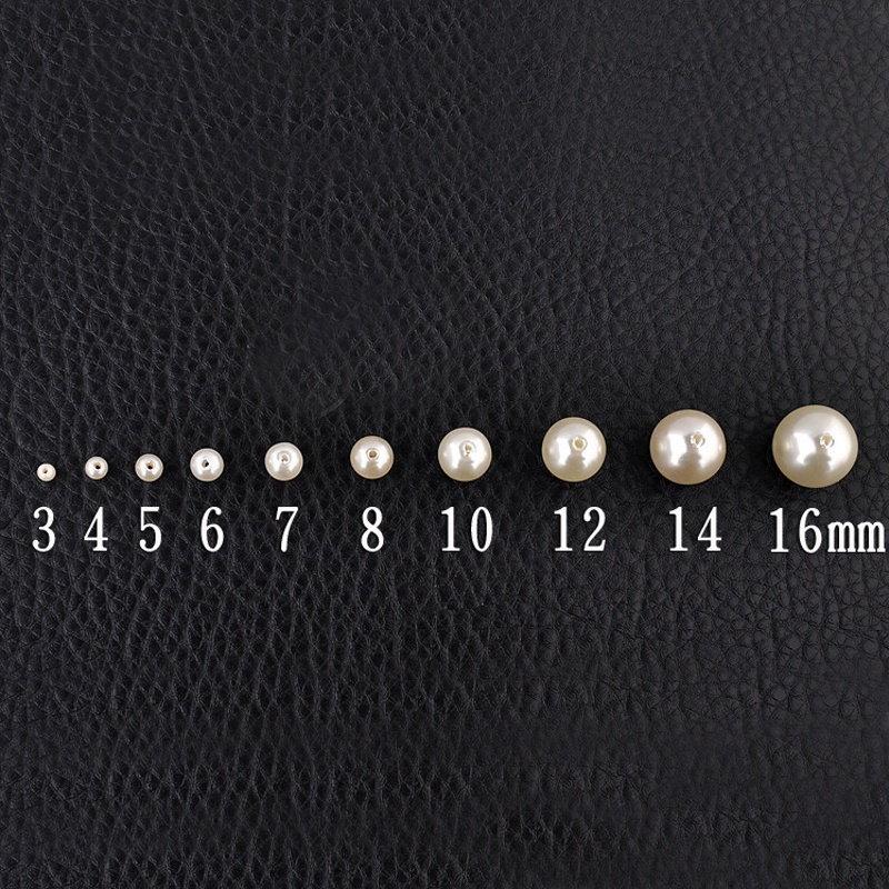5A +品質ハンドメイドホワイトスペーサーラウンドアクリルパールルーズビーズDIYブレスレットネックレスジュエリーマキ