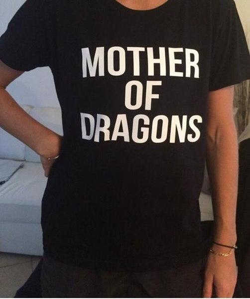 ドラゴンズの母のゲームトロンズのTシャツファッションカジュアルコットンファニーシャツ
