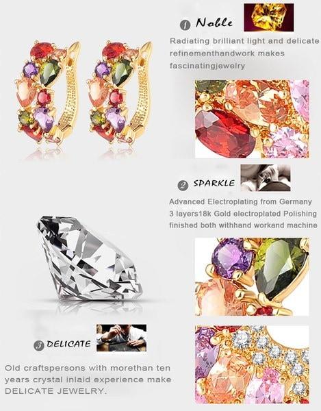 LZESHINE新2015ファッションクリスマスギフト女性結婚式セット金メッキジルコニアチャームジュエリーセット