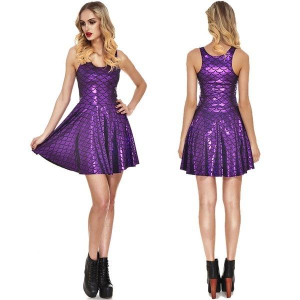 新しい夏マーメイドスケールショートドレス女性ルーズセクシーなストラップレスAラインカジュアルミニシャツドレス