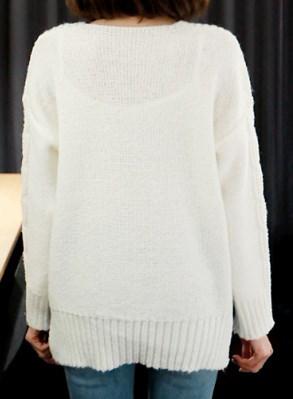 リバースツイストニット-This is daily knit look having neat design and comfortable wearing feeling
