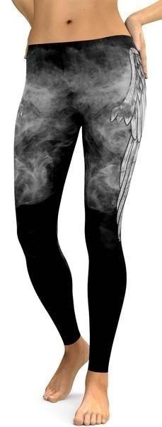 女性のファッションハイウエストスカル印刷タイトなスポーツパンツWZG2326