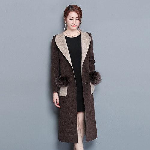 [55555SHOP]ラシャコート スリム モコモコ 無地 ボタン ポケット 韓国風 ファッション