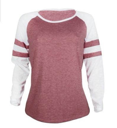 女性の長袖Tシャツトップカジュアルストライプブラウスプルオーバー